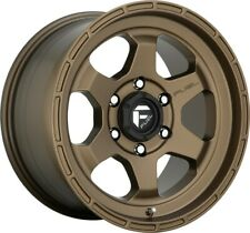 "5-Fuel D666 Shok 17x9 5x5"" -12mm Matte Bronze Wheels Rims 17"" Inch Jeep JK JL JT"