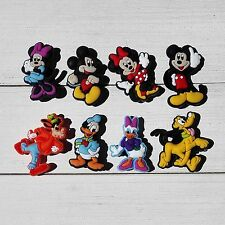8 Mickey Mouse Minnie Donald Daisy Duck Pluto Goofy jibbitz crocs shoe charms