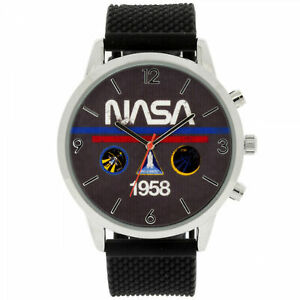NASA 1958 Analog Watch with Silicone Band Multi-Color