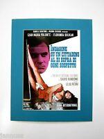 alter Kino Film Druck hinter Passepartout Gian Maria Volonté 1970 50x40cm 315