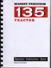 "Massey Ferguson ""135"" Tractor Operator Manual Book"