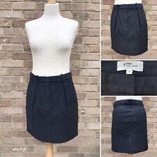 Etoile Isabel Marant Pencil Skirt Sz 3 Grey Thick Cotton W 35 Pockets UK 12 14