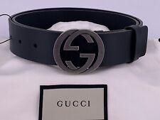 NEU Luxury Original GUCCI  Leder Damen Herren Große-38 / M / 95cm-schwarz
