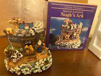 Classic Treasures Noah's Ark Animated Musical Figurine Sculpture with box