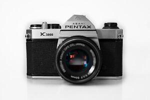 Asahi Pentax K1000 chrome w/ SMC Pentax-M 50mm f1.7 lens Professionally tested