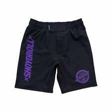 Shoyoroll Competitor 2019Q3 Training Fitted Shorts Black/Purple Medium Brand New