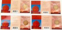 """.4 x 2002 UNC $1 COIN PACKS. """"YEAR OF THE OUTBACK"""". B C S M MINT / PRIVY MARKS."""