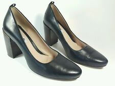Clarks Narrative womens black leather high block heel shoes uk 7D