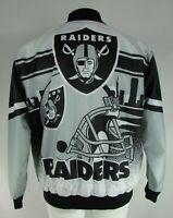 Las Vegas Raiders NFL G-III Men's Button-Down Bomber Jacket
