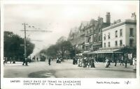 Real photo Southport; lord street; early days of trams in lancashire c1913 repro