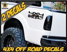 4x4 Truck Bed Decal Set MATTE BLACK Ford F150 Super Duty F250 Tactical AR15 M4