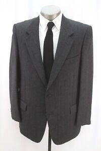 mens charcoal VALENTINO UOMO fleece wool blazer jacket sport suit coat 52 42 R