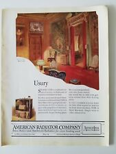 1922 American Radiator Company vintage living room furniture design ad