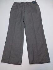 Arrow Mens Size 34X30 Black & White Weave Flat Front Dress Pants New