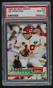 1995 Skybox Impact Joe Montana #72 Football Card PSA GEM MT 10