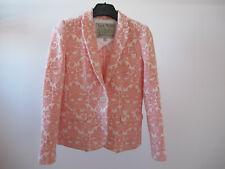 """Jack Wills"" 100% Cotton Lined Blazer Pink White Jacket UK8 - ""Great Condition""!"