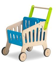 Children's Wooden Toy Shopping Trolley with Baby Seat