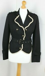 TFNC Black Jacket With White Bias Bound Features Size 8-10