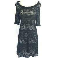 Isabel Marant Étoile Romeo Black Crochet Lace Dress Size 38 UK 8-10 US 4-6