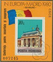 RUMÄNIEN 1980 VFU Block Konferenz über Sicherheit und Zusammenarbeit in Europa