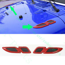 2Pcs For Jeep Wrangler Compass Patriot Cherokee Front Cover ABS Black+Red Frames