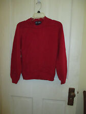 LANDS' END INLET RED COTTON CLASSIC DRIFTER SWEATER SZ XS 4 RN 62830 100% Cotton
