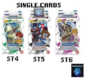 Digimon Card Game 2020 Single Cards Singles STARTER DECK ST4 ST5 ST6 English TCG