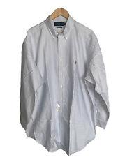 Polo Ralph Lauren 17 32/33 Classic Fit Pinstripe Sleeve Button Down Shirt New