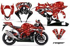AMR Racing Graphic Kit Wrap Part Suzuki GSXR 1000 Street Bike 05-06 REAPER RED