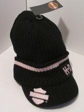 Harley Davidson knit Hat beanie bill Ladies pink Black   8-1-B1