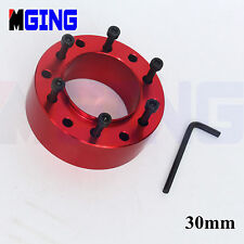 UNIVERSAL 30MM  STEERING WHEEL PAD SPACER HUB ADAPTER GASKET 6BOLTS ALLEN KEY
