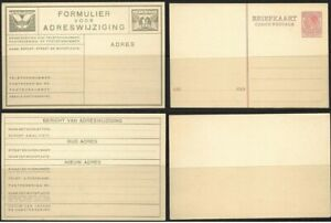 NETHERLANDS ps  Lot of 2 unused Postal Stationery Cards