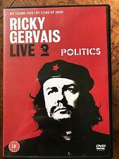 Ricky Gervais - Live 2 - politics DIVERTIDA 2004 Monólogos Show GB DVD