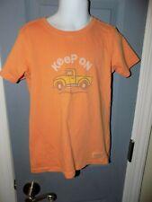 Life is Good Keep On Truck Orange Short Sleeve Shirt Size 4 Toddler EUC