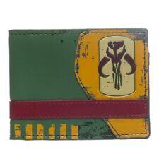 Oficial De Star Wars Boba Fett Mandalorian Verde Bi-fold Wallet-Bounty Hunter
