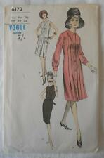 "VINTAGE EARLY 1960'S VOGUE PATTERN 6172 LADIES DRESS SIZE 12 BUST 32"" HIP 34"""