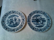 antique pair of petrus regout maastricht fantasie wand plates