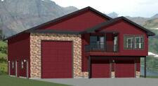 44x48 Apartment with 2-Car 1-RV Garage - PDF FloorPlan - 1,645 sqft - Model 5R