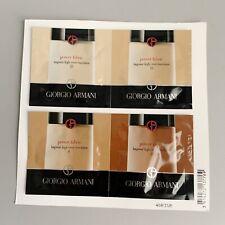New Giorgio Armani Power Fabric Foundation 3 5.5 8 13 sample 0.03 oz Each