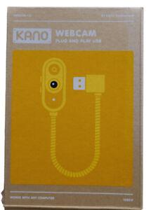 Kano Webcam - 1080p USB flexible camera with flash, privacy cover, macro lens