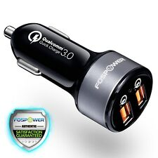 Qualcomm Quick Charge QC 3.0 36W 2 Dual Port USB Fast Car Charger iPhone Samsung