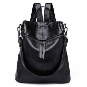 Damen Leder Rucksack Wasserabstoßend Schultertasche Studenten Fashion*Handtasche
