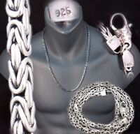 """4mm BALI BYZANTINE 925 STERLING SILVER MENS NECKLACE KING CHAIN 18 20 22 24 26"""""""
