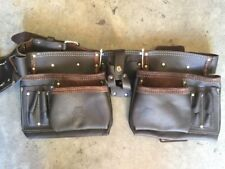 Toolbelt real leather double toolBELT workmans nail bag GRIPWELL genuine leather