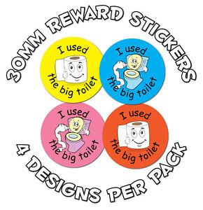 144 x Toilet training - 30mm  Reward Stickers - School Teachers Or Parents