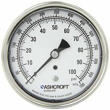 ASHCROFT INDUSTRIAL DURALIFE GAUGE 0-100 PSI  35-1009-AW-02B-100#/KP