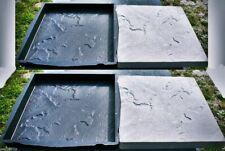 2 Stampi Per Cemento [Litocer] 45 x 45 Cm Di Cemento Del Patio
