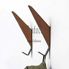 Erik Aleksi Mid-Century Wall Coat Hooks | Made of Solid Teak (Pack of 2)