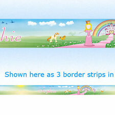 Princesa Personalizado frontera Strips Para Pared Wallpaper