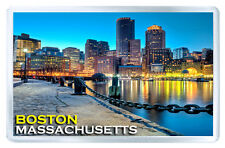 BOSTON MASSACHUSETTS USA MOD2 FRIDGE MAGNET SOUVENIR IMAN NEVERA